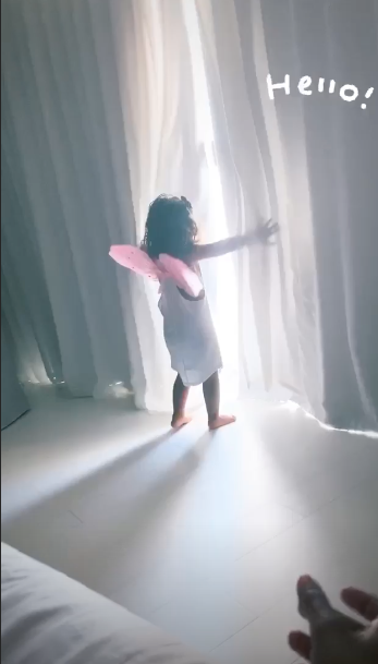 La fille d'Amel Bent sur Instagram ce mardi 4 août
