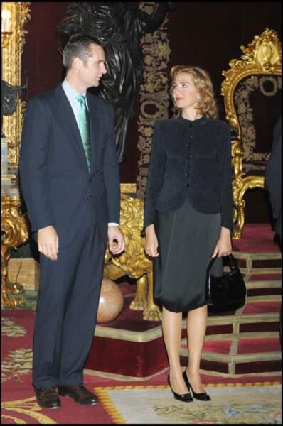L'infante Christina et son mari Inaki Urdangarin. Elle est la seconde fille de Juan Carlos Ier et de la reine Sofia et soeur de l'actuel roi Felipe VI.