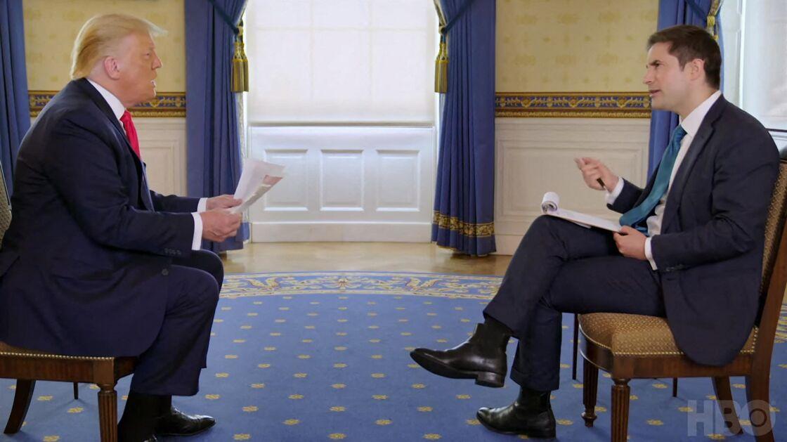 Donald Trump interviewé par Jonathan Swan pour Axios, diffusé sur HBO ce lundi 3 août.