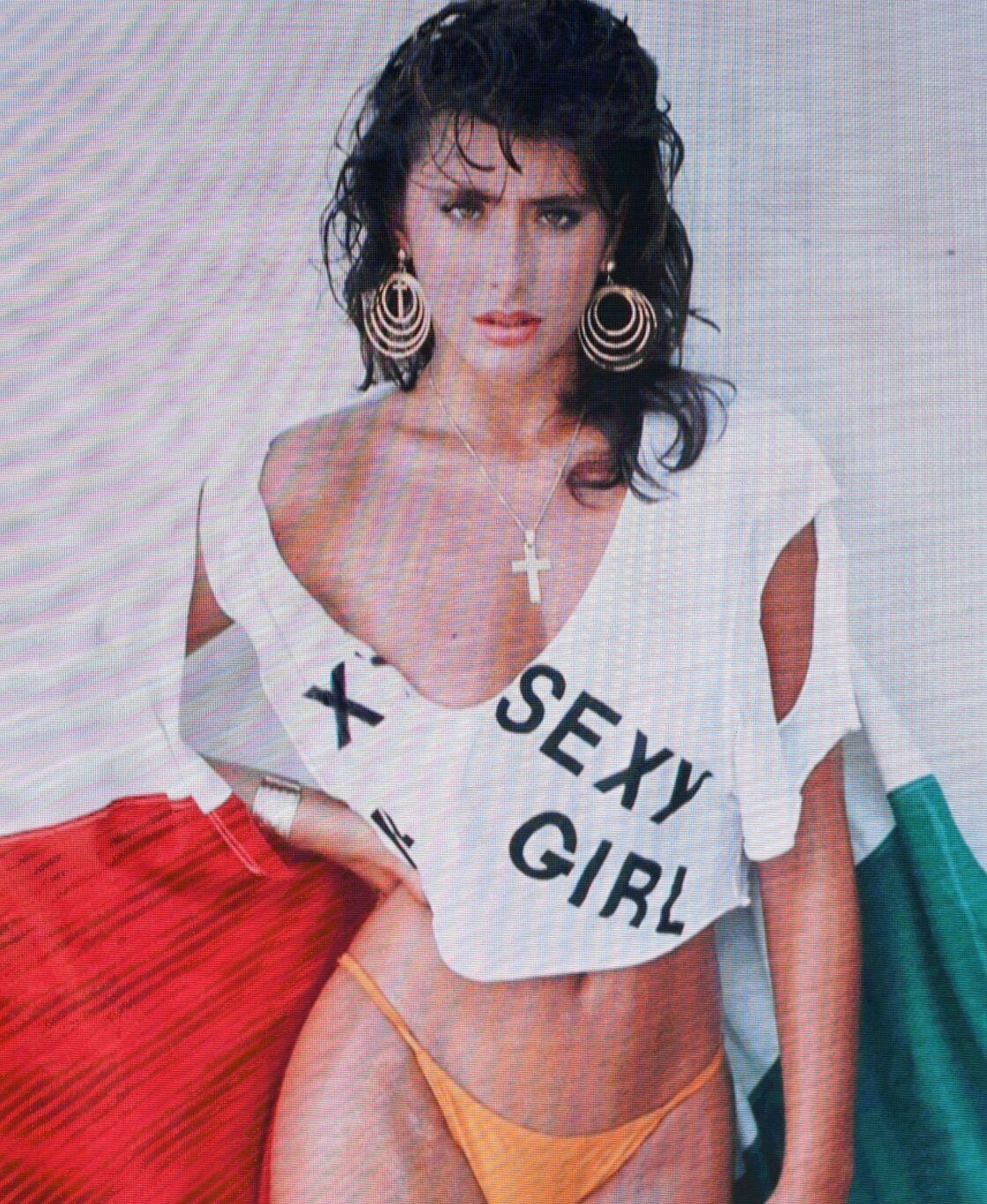 Sabrina Salerno dans les années 1980.