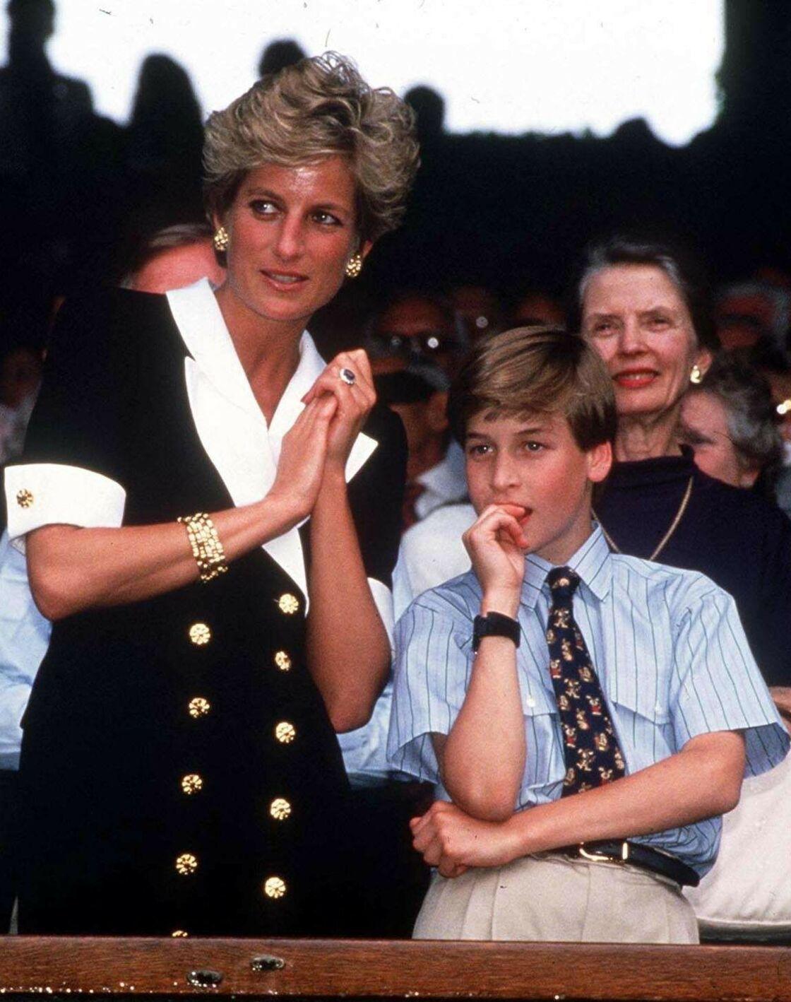 La princesse Diana et le prince William en 1994.