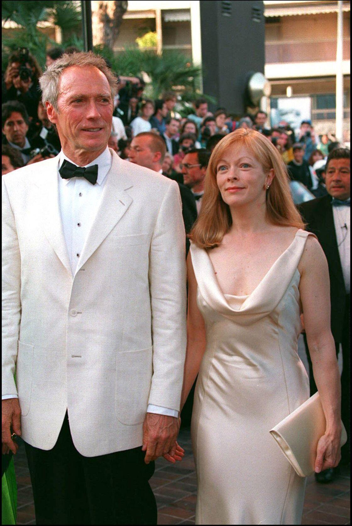 Clint Eastwood et Frances Fisher, au Festival de Cannes en 1994.