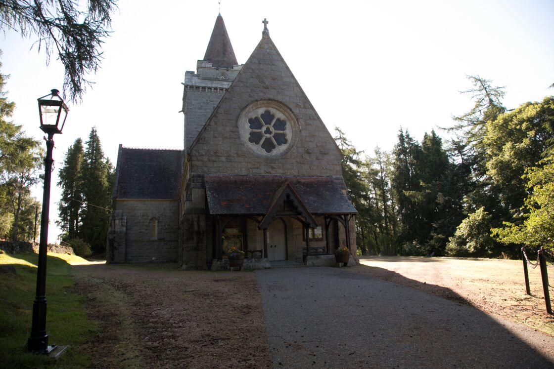 Crathie Kirk, église la plus proche de son domaine de Balmoral, où se rend habituellement Elizabeth II