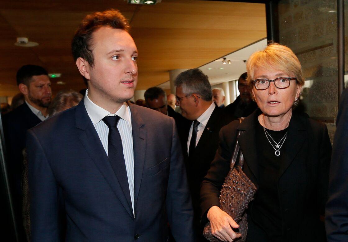 Claude Chirac et son fils Martin Rey-Chirac se sont rendus au musée du président Jacques Chirac de Sarran en Corrèze le 5 octobre 2019