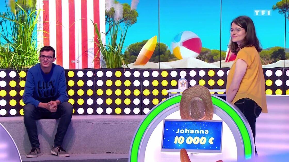 Paul et Johanna sur le plateau de l'émission Les 12 coups de midi du jeudi 13 août