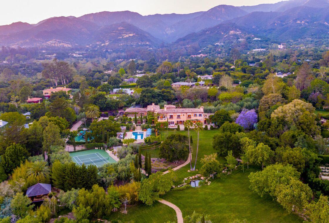 La villa de Meghan Markle et du prince Harry, dans l'enclave de Montecito, à Santa Barbara (Californie).