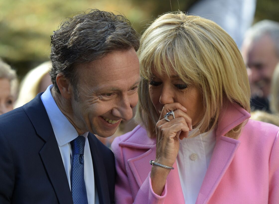 Stéphane Bern et Brigitte Macron, lors des Journées du Patrimoine, le 15 septembre 2018