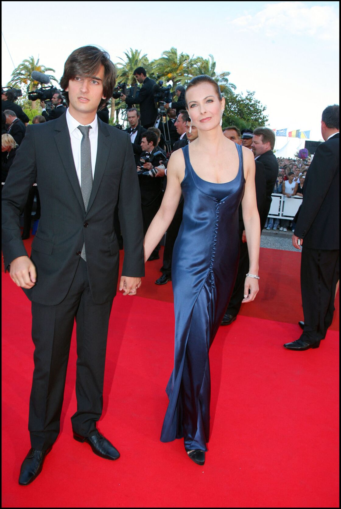 Carole Bouquet et son fils Dimitri à Cannes
