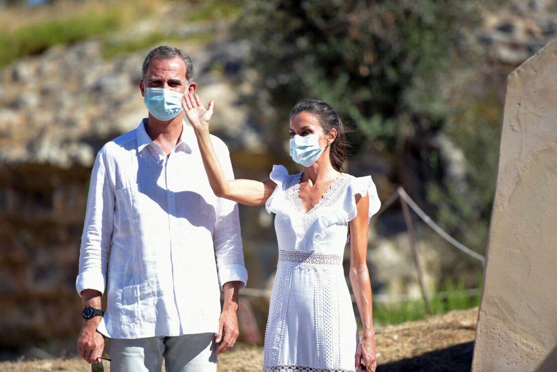 Felipe VI et Letizia d'Espagne en visite officielle à Ibiza, ce lundi 17 août 2020