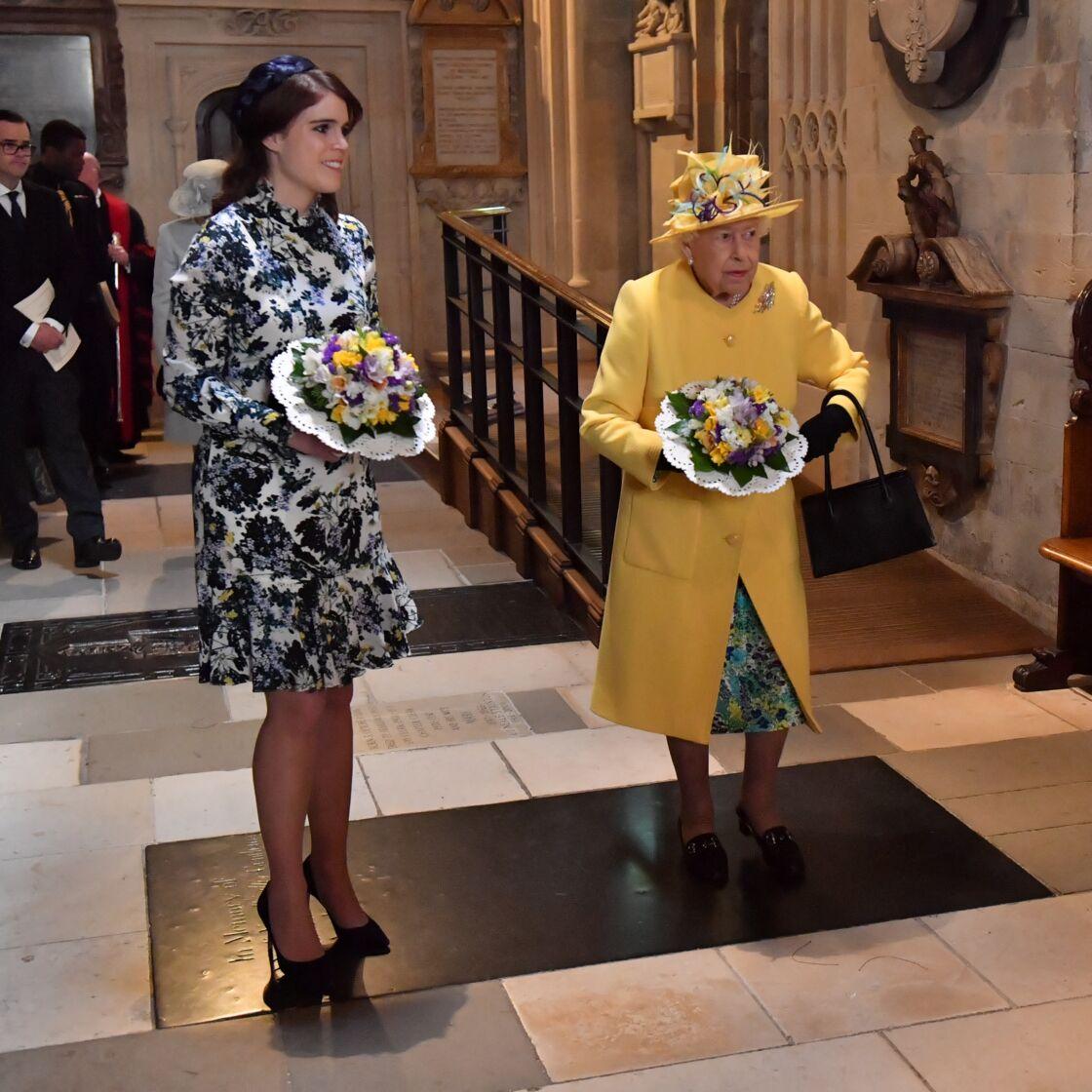 Elizabeth II et la princesse Eugenie d'York réunies lors du service religieux