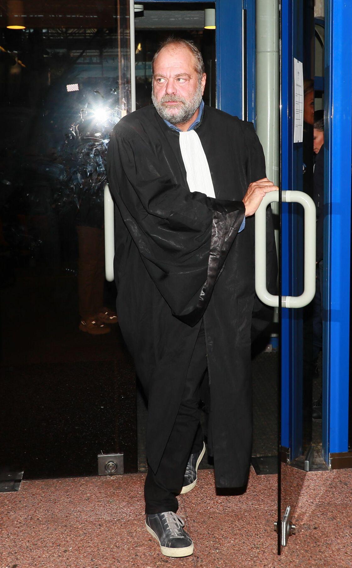 Éric Dupond-Moretti dans sa robe d'avocat, le 19 septembre 2019