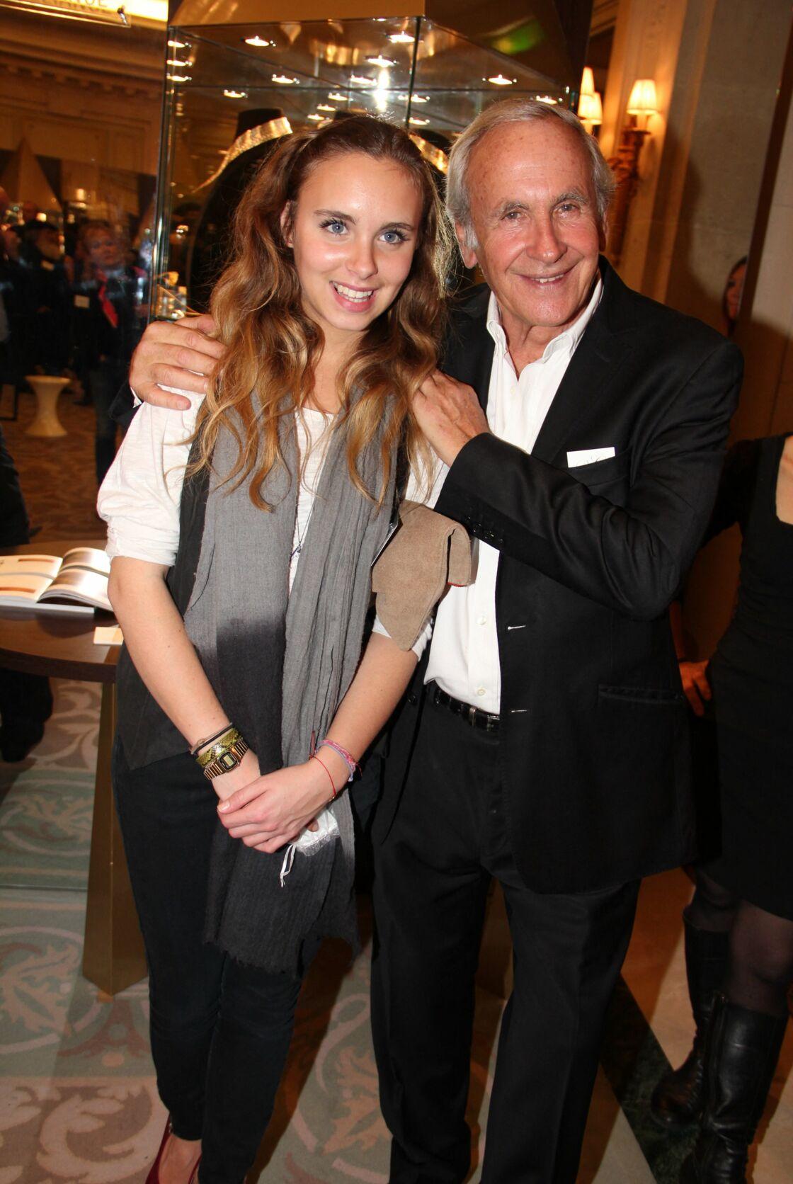Patrice Laffont et sa fille Mathilde, réunis lors d'un événement parisien, en 2012.