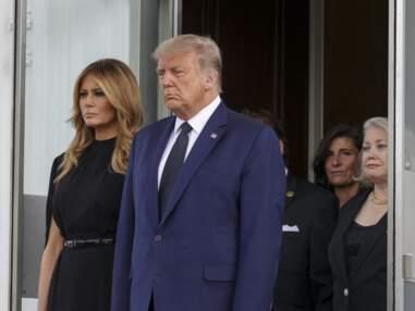 PHOTOS - Melania et Donald Trump très émus aux funérailles de son frère Robert