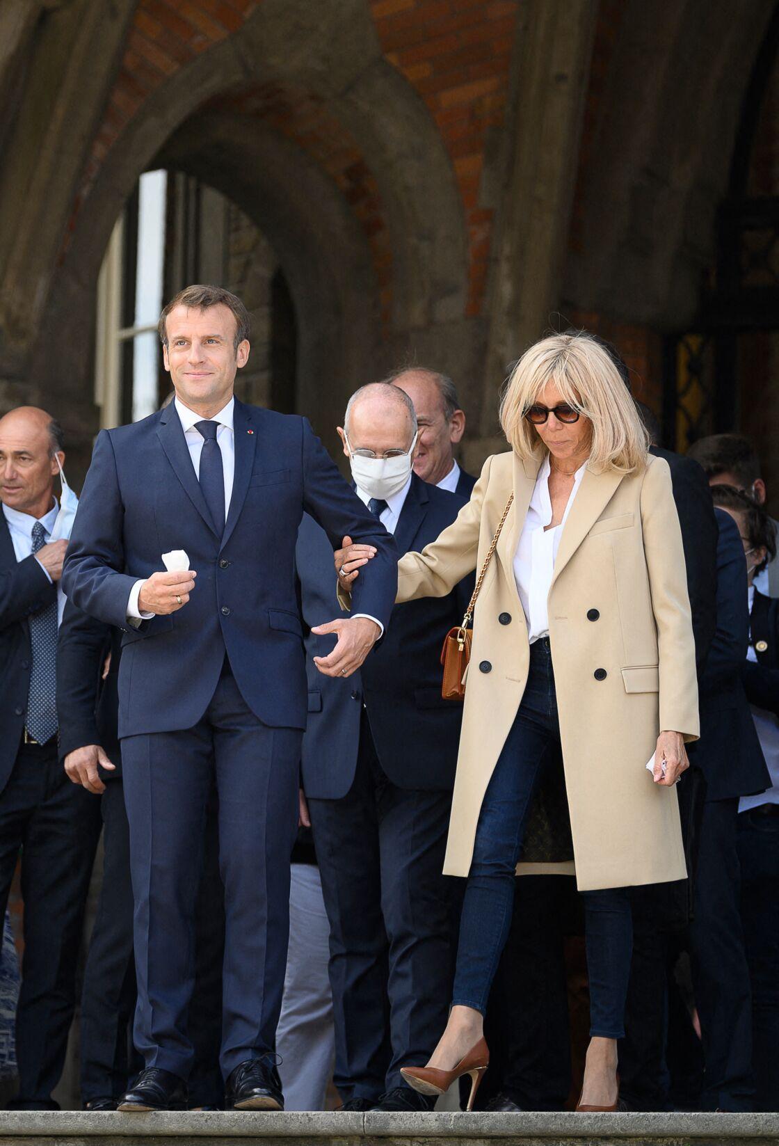 Emmanuel et Brigitte Macron au Touquet, le 28 juin 2020