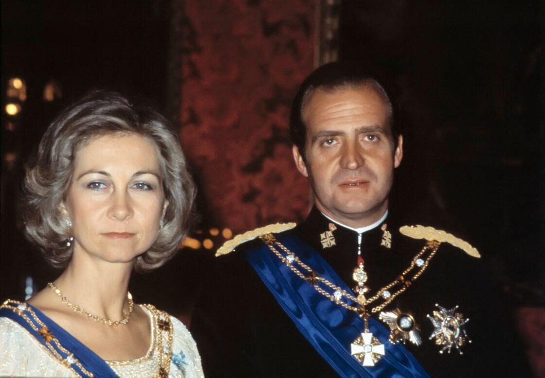 Le roi Juan Carlos et la reine Sofia à Madrid, en 1978.