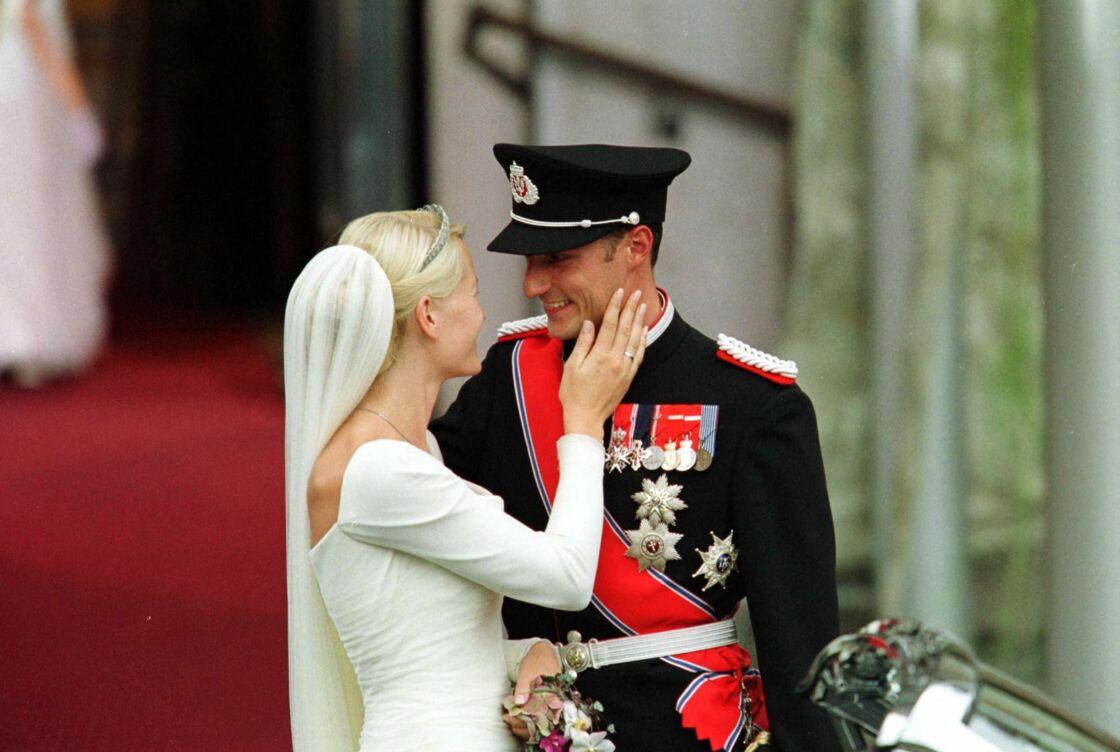 Mariage de Mette-Marit et du prince Haakon, à Oslo le 25 août 2001.