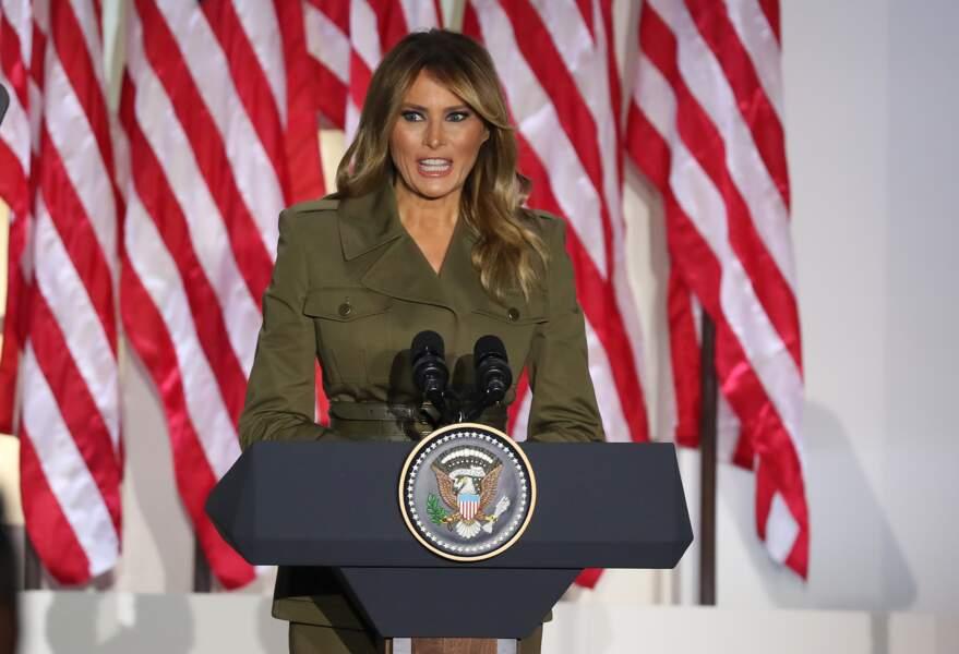 Melania Trump dans un discours enflammé pour soutenir son mari lors de la convention républicaine.