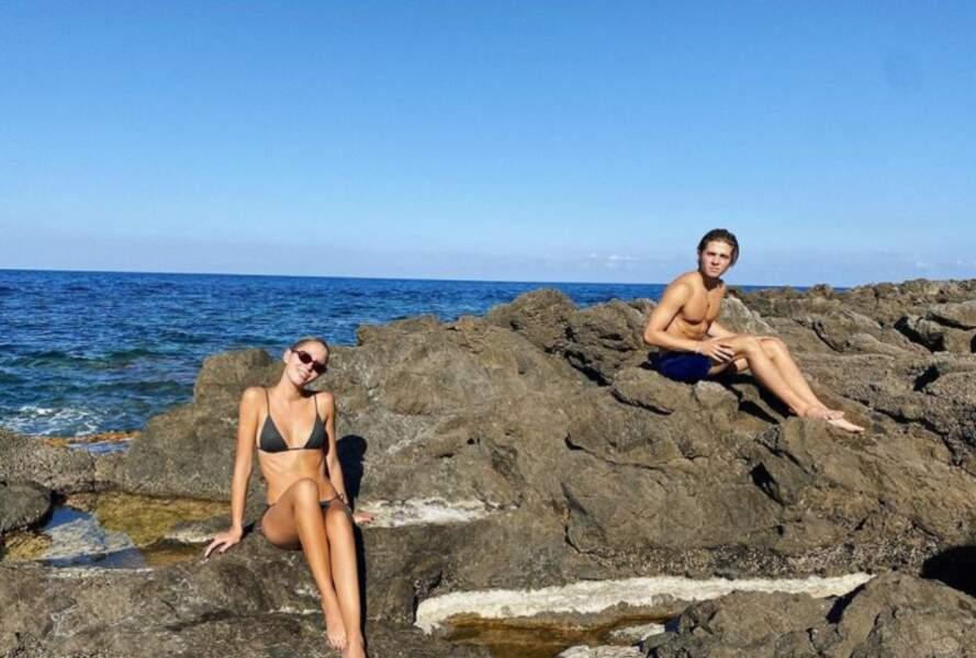Maria-Olympia de Grèce et son petit-frère en vacances en Italie
