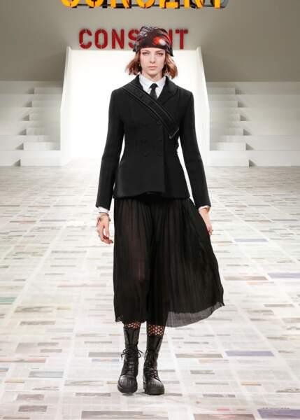 La jupe plissée Dior