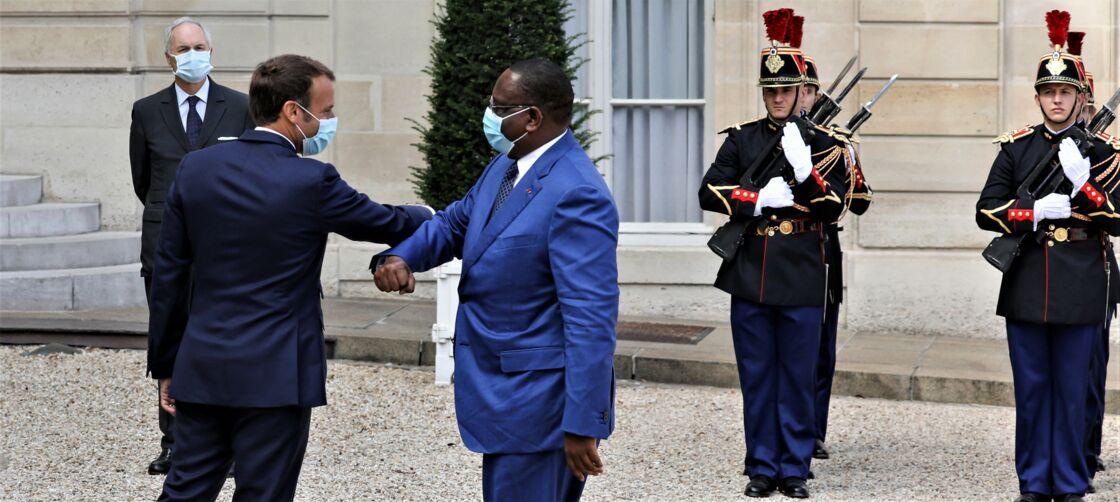 Emmanuel Macron et Macky Sall à l'Elysée, à Paris, le 26 août 2020.
