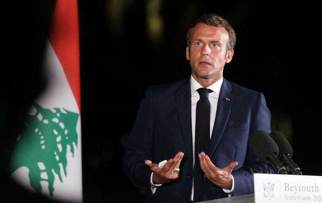 Emmanuel Macron en août 2020