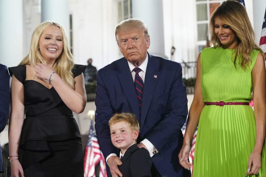 Tiffany Trump, Donald Trump et Melania Trump