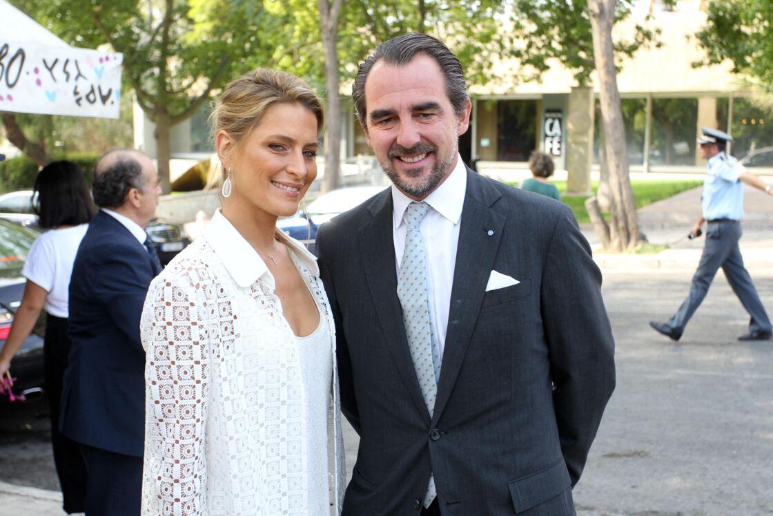 Le prince Nicolas de Grèce ( Nikolaos ) et son épouse, la princesse Tatiana de Grèce - Inauguration de la sculpture
