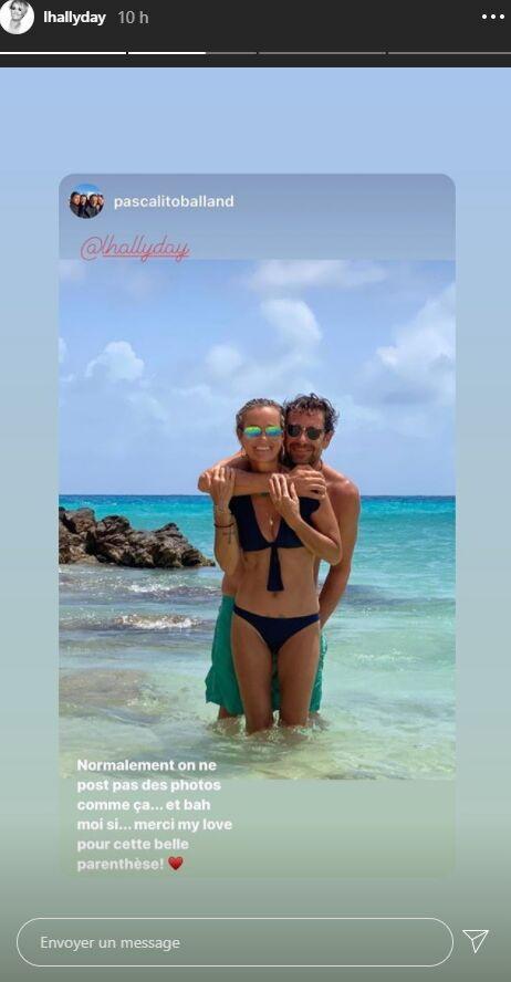 Laeticia Hallyday et Pascal Balland en vacances à Saint-Barthélemy, le vendredi 28 août.