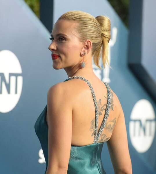 """Scarlett Johansson à la 26ème cérémonie annuelle des """"Screen Actors Guild Awards"""" (""""SAG Awards"""") au """"Shrine Auditorium"""" à Los Angeles."""