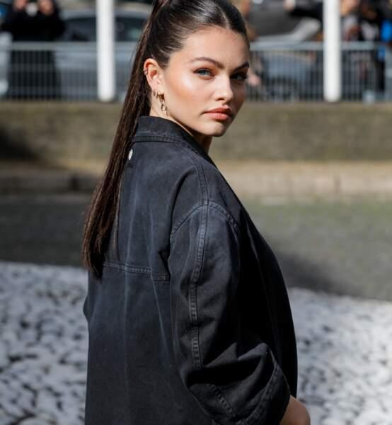 Thylane Blondeau au défilé Miu Miu,  collection prêt-à-porter Automne/Hiver 2020-2021 lors de la Fashion Week à Paris.