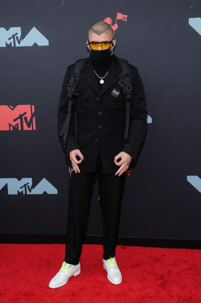 Bad Bunny à la remise de prix de la cérémonie des MTV Video Music Awards (MTV VMA's) à Newark
