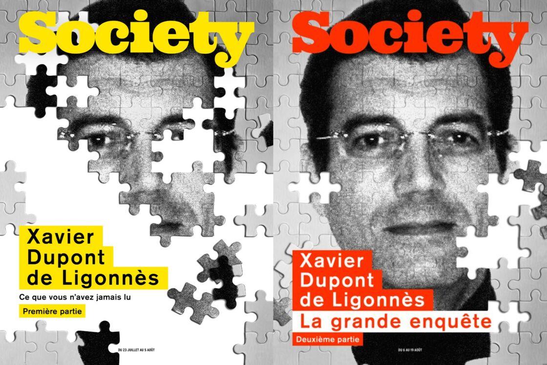 Les magazines Society consacrés à l'affaire Xavier Dupont de Ligonnès