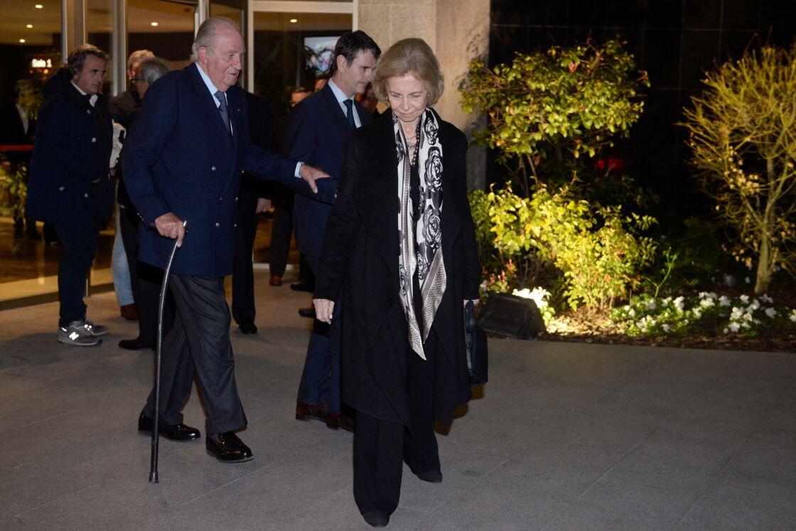 Juan Carlos et Sofia aux obsèques du businessman Placido Arango, en février 2020. L'une de leurs dernières sorties publiques à deux.