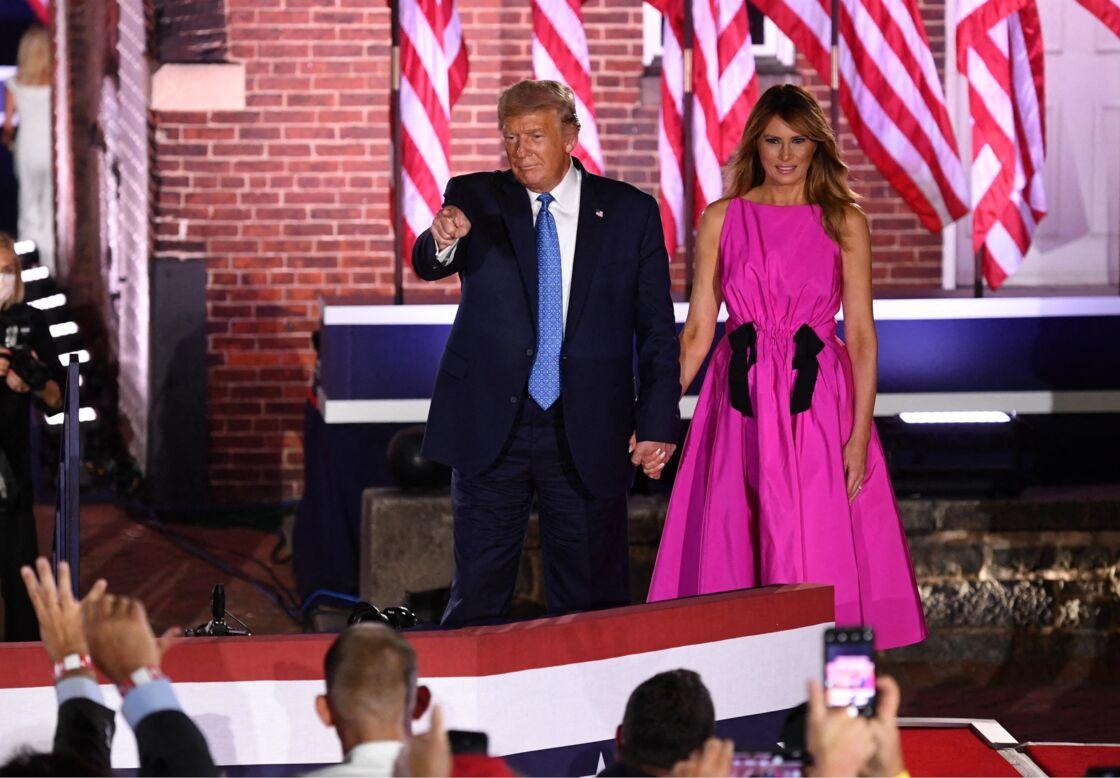 Donald et Melania Trump le 26 août 2020.