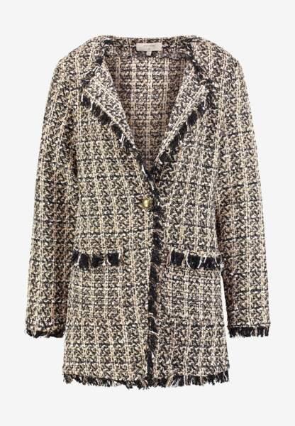 Manteau tweed, 64,95€, Cream pour Zalando.fr.