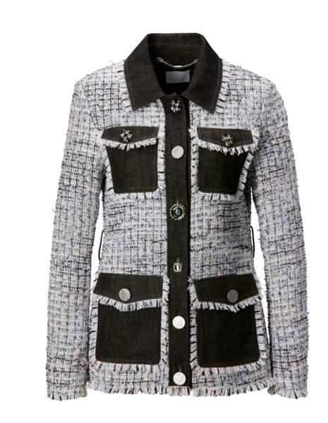 Veste tweed, 235€, Madeleine.
