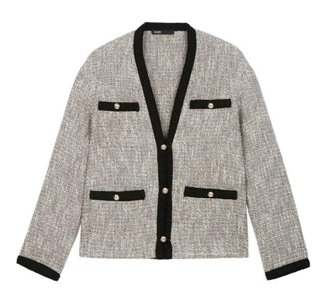 Veste tweed, 325€, Maje.