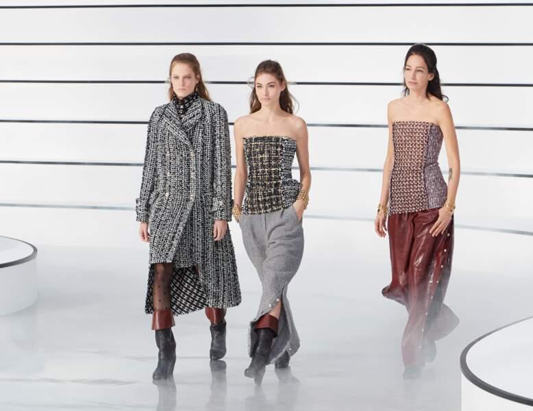 Le tweed vu par Chanel collections hiver 2020-2021