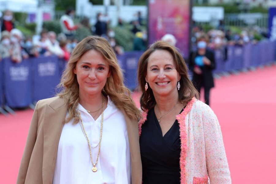 Ségolène Royal et Daniela Lumbroso sur le redcarpet  de la cérémonie d'ouverture du 46ème Festival du Cinéma Américain de Deauville, le 4 septembre 2020.