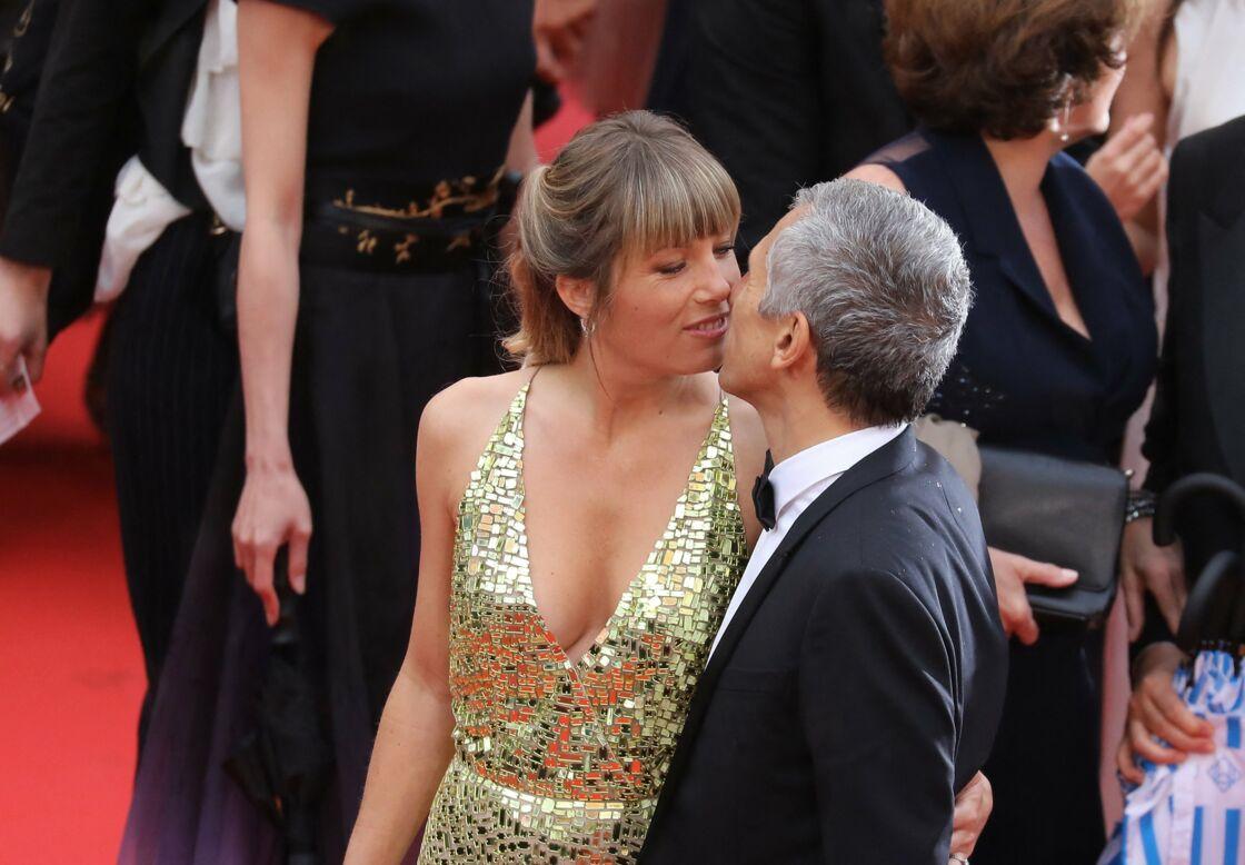 Nagui et Mélanie Page, très amoureux, lors du 72e festival de Cannes, en 2019.