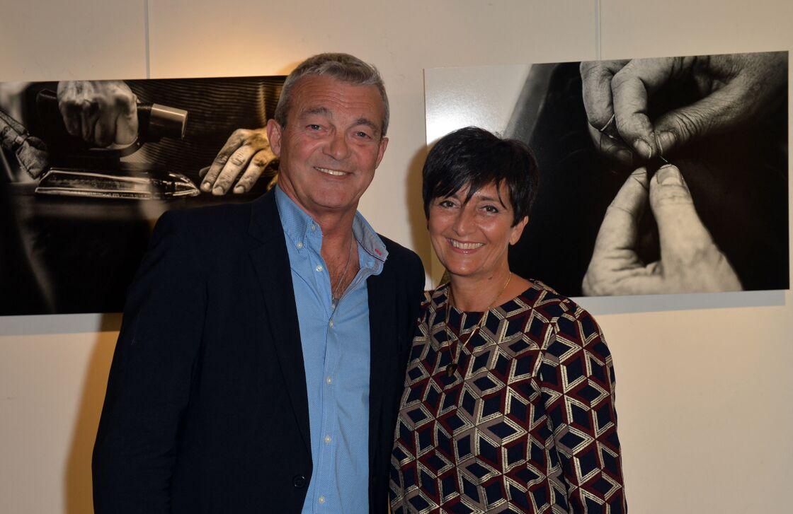Laurence et Pierre Lemarchal (Parents de Grégory Lemarchal) - Vernissage de l'exposition de Nikos Aliagas
