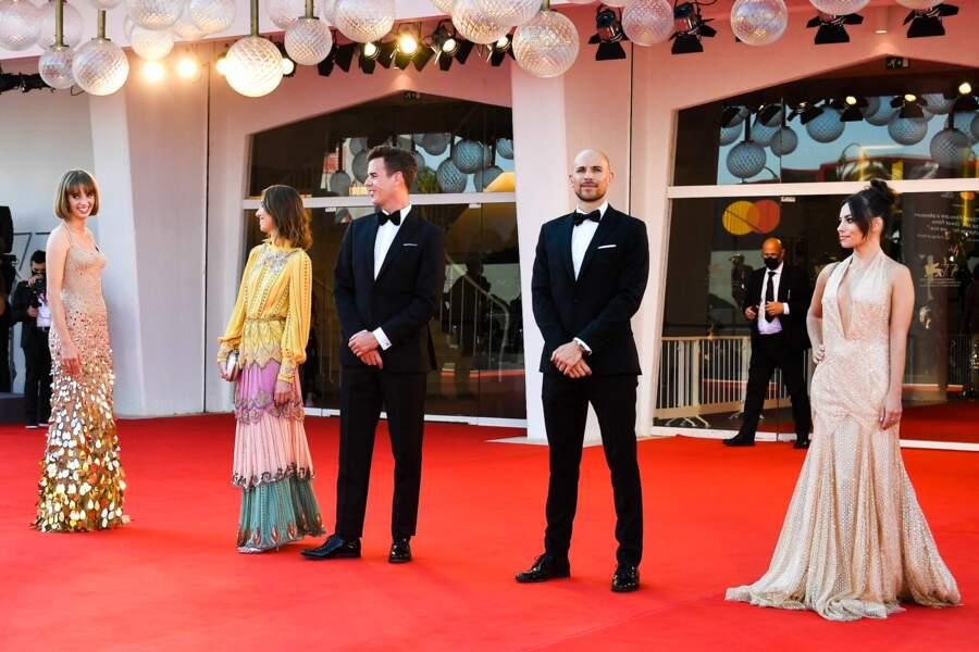 Maya Thurman-Hawke et l'équipe du film Mainstream qu'elle est venue présenter à Venise.