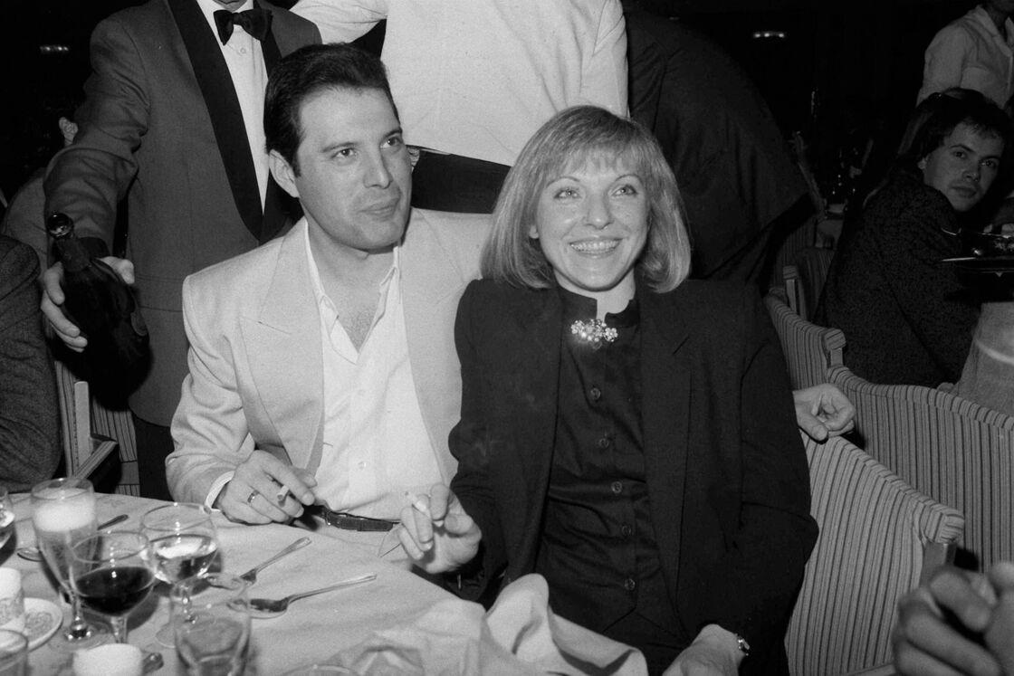 Freddie Mercury et Mary Austin en avril 1984