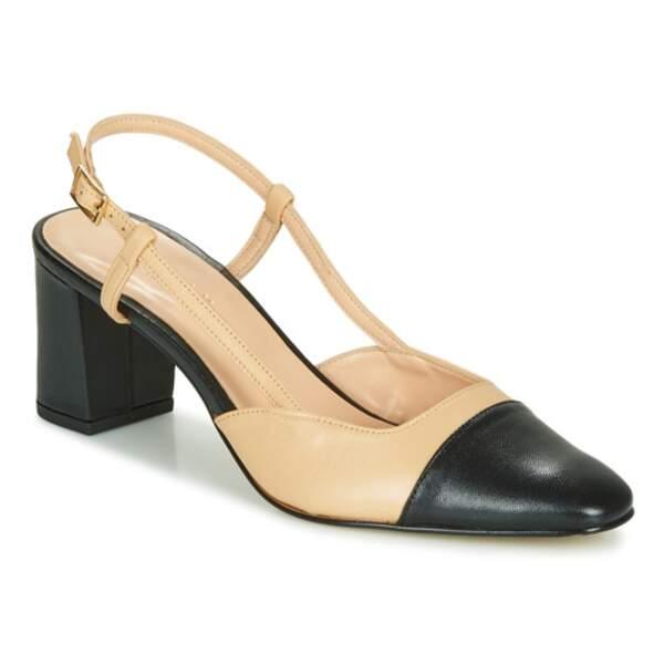 Sandales bicolores, 115€, Jonak