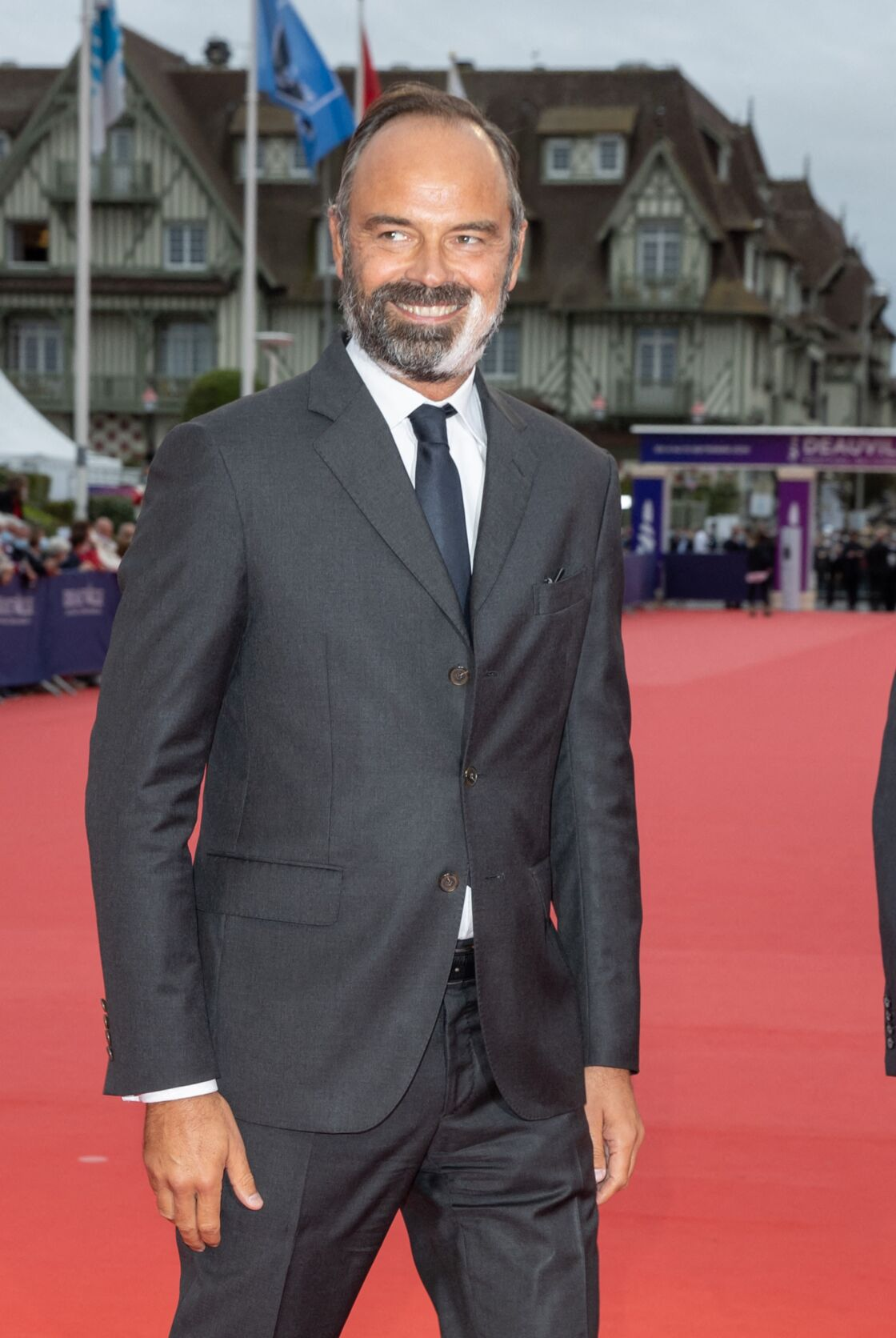 Edouard Philippe sur le tapis rouge du festival américain de Deauville