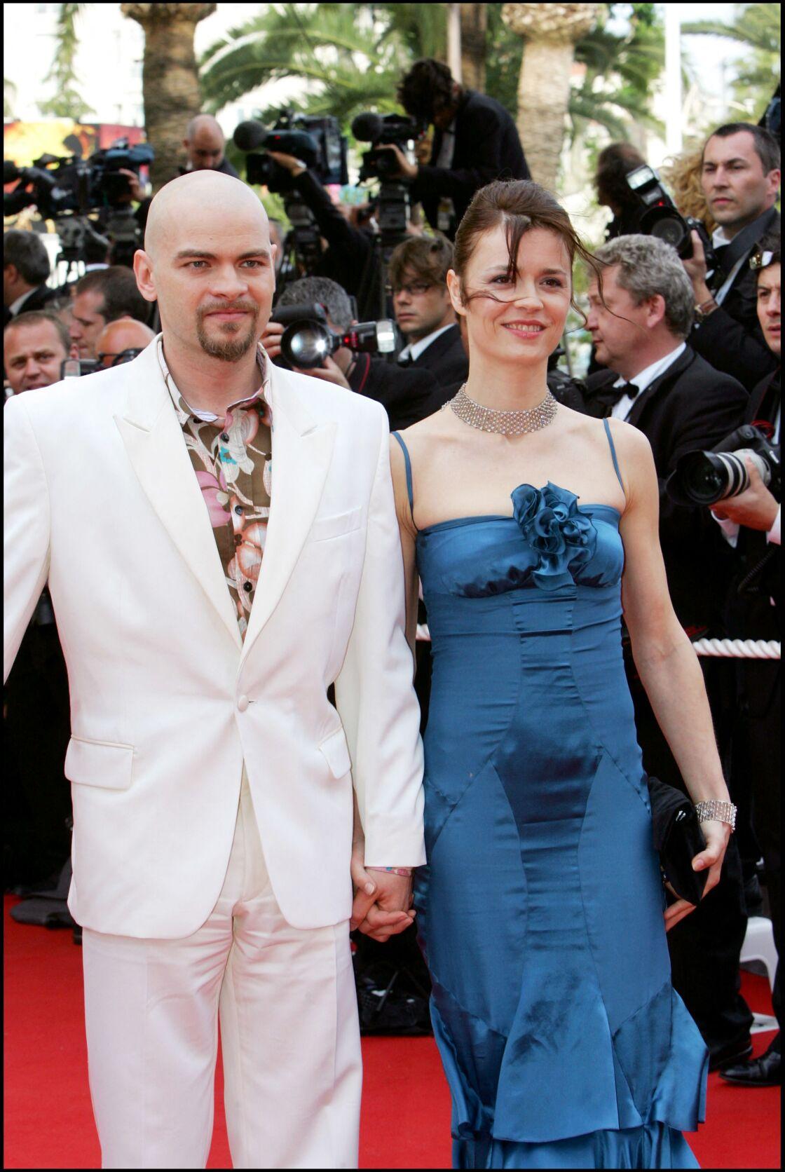 Clovis Cornillac et Caroline Proust réunis sur le tapis rouge du Festival de Cannes en 2006.