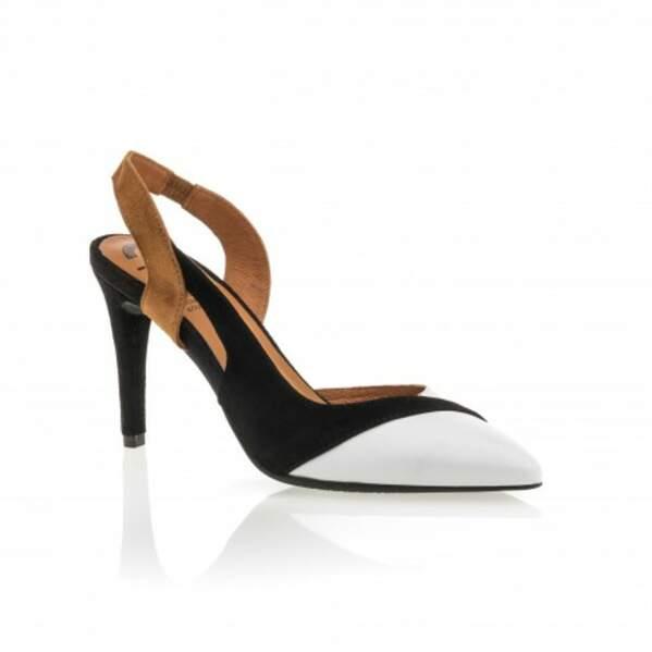 Escarpins bicolores,59,99€, Besson Chaussures
