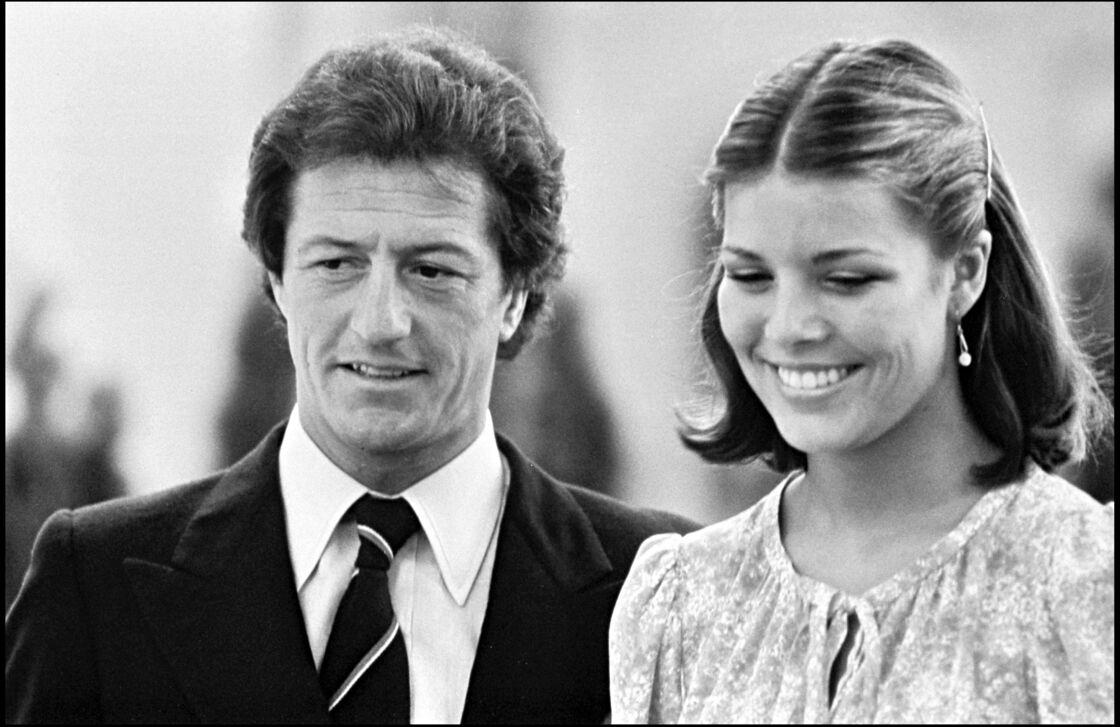 Philippe Junot et Caroline de Monaco lors de leurs fiançailles