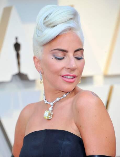 Le 24 février 2019, l'actrice Lady Gaga porte le collier serti du Tiffany Diamond lors de la 91ème cérémonie des Oscars.