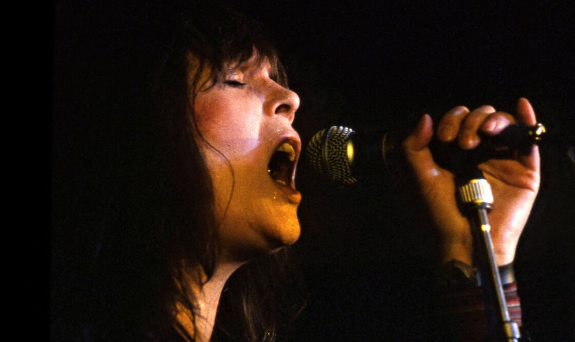 Nico lors de l'un de ses derniers concerts, en 1986.